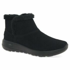 Skechers  On The Go Joy Womens Casual Suede Ankle Boots  women's Snow boots in Black