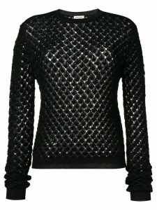 Saint Laurent glittery crochet jumper - Black