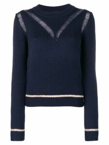 See By Chloé knit distressed sweater - Blue