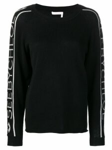See By Chloé logo-stripe sweater - Black