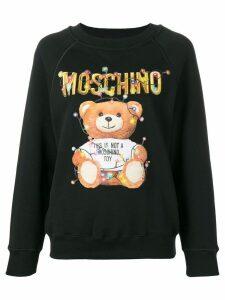 Moschino toy logo sweatshirt - Black