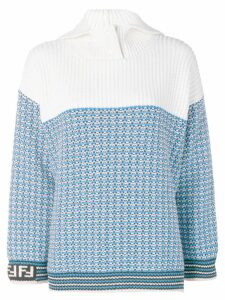 Fendi micro check pullover - Blue