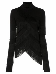 Y/Project fringe tassel turtleneck jumper - Black