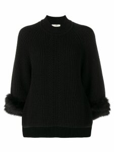 Fendi fur cuff jumper - Black