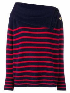 Mes Demoiselles roll neck striped jumper - Blue