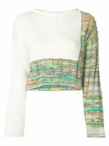 3.1 Phillip Lim ribbed knit jumper - White