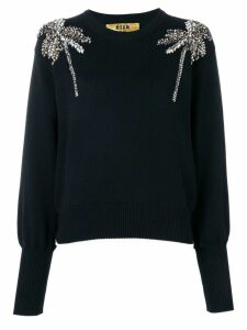 MSGM crystal-embellished sweater - Black