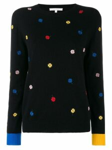 Chinti & Parker floral embroidered sweater - Black