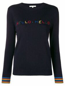 Chinti & Parker slogan fitted sweater - Blue