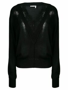 Chloé lace trimmed jumper - Black