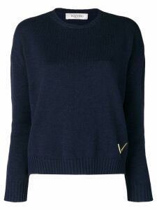 Valentino cashmere crew neck sweater - Blue