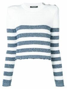 Balmain striped sweater - White