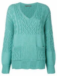Alberta Ferretti chunky knit jumper - Blue