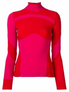 Atu Body Couture colour-block jumper - Red