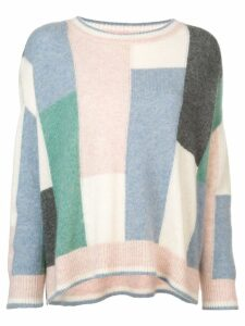Adam Lippes colour-block flared sweater - Multicolour