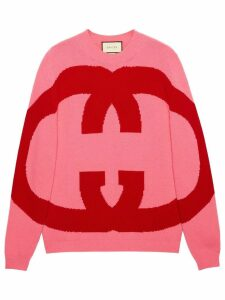 Gucci Wool sweater with Interlocking G - Pink