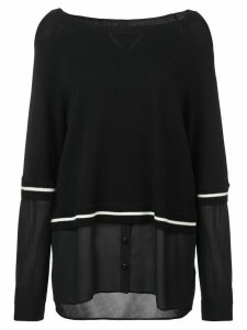 Nicole Miller boat neck blouse - Black