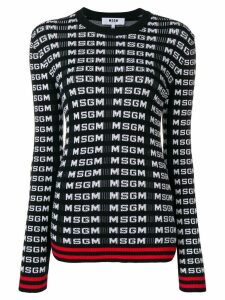 MSGM logo sweater - Black