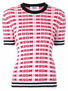 MSGM logo sweater - Red
