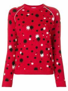 Red Valentino star pattern knit sweater