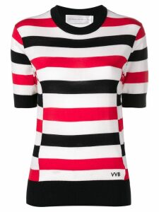 Victoria Victoria Beckham striped knitted blouse - Neutrals