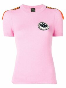 Mr & Mrs Italy embellished cashmere T-shirt - PINK