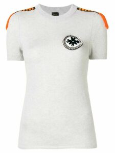 Mr & Mrs Italy embellished cashmere T-shirt - Grey