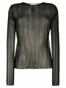 Christian Wijnants plisse sheer top - Black