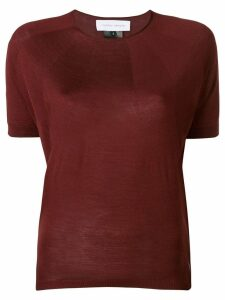 Christian Wijnants knitted panel top - Red