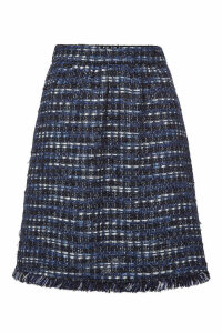 Boutique Moschino Tweed Skirt with Cotton