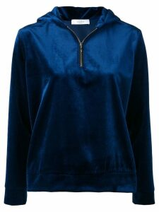 Roseanna velvet hooded sweater - Blue