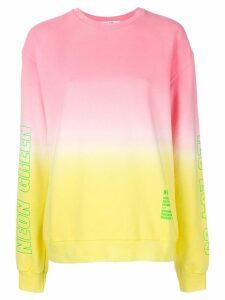 MSGM dip-dye sweatshirt - PINK