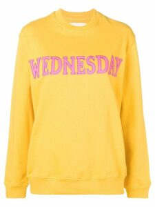 Alberta Ferretti Wednesday patch sweatshirt - Yellow
