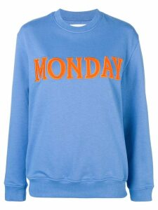 Alberta Ferretti Monday patch sweatshirt - Blue