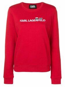 Karl Lagerfeld Ikonik & logo sweatshirt - Red