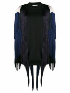 Stella McCartney fringed sweatshirt - Black