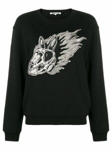 McQ Alexander McQueen Flame bunny embroidered sweatshirt - Black