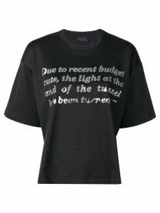 Diesel Black Gold boxy T-Shirt with tonal foil print