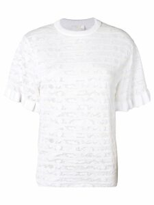 Chloé textured knit T-shirt - White