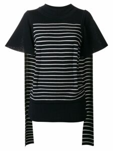 JW Anderson double layer-sleeve T-shirt - Blue