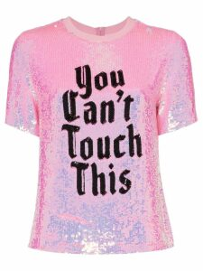 Ashish x browns you can't touch this sequin T-shirt - PINK