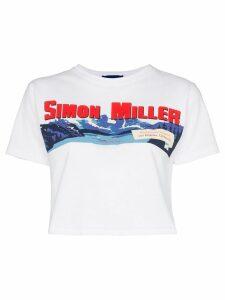 Simon Miller Rando cropped logo T-shirt - White