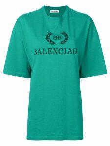 Balenciaga BB printed T-shirt - Green
