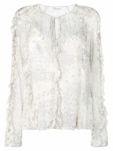 RedValentino cascading stars printed top - NEUTRALS
