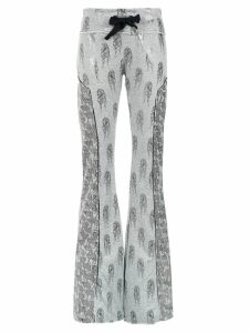 Andrea Bogosian flared trousers - Grey