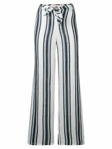 Tory Burch awning stripe flared trousers - Blue