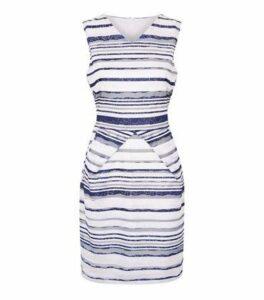 Mela White Stripe Lace Dress New Look