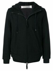 Individual Sentiments woven zip front hoodie - Black