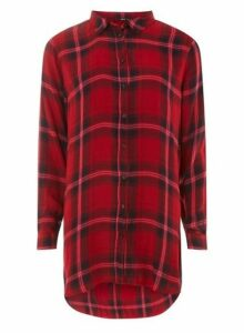 Womens **Only Red Checked Shirt, Red