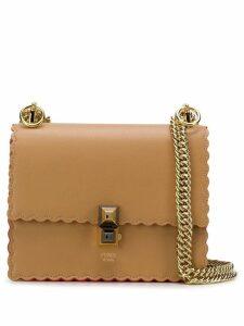 Fendi Kan I mini scalloped shoulder bag - Brown
